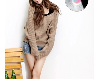 sweater clothes fashion style winter sweater hoodie cute khaki fall outfits top t-shirt knitted cardigan