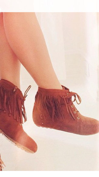 moccasins shoes moccasin boots boots ankle boots fringe fringe boots fringe shoes