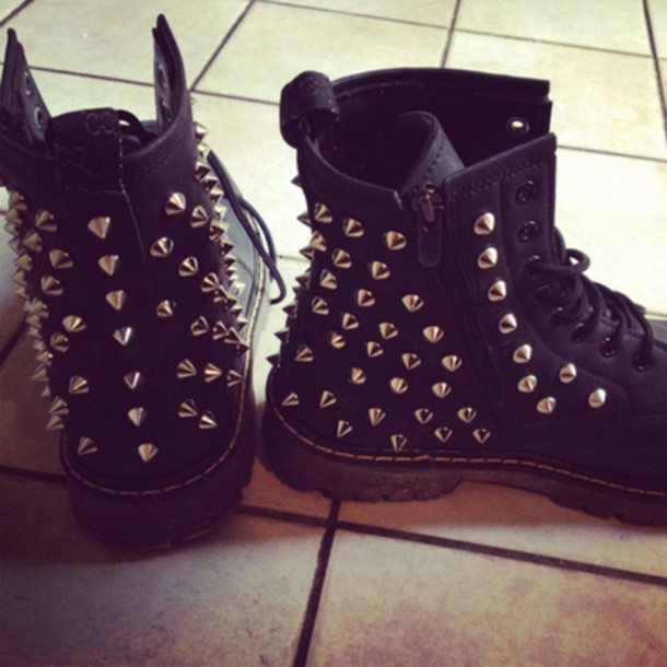 50% off wholesale price the cheapest shoes, hipster, pyramid studs, biker boots, gorgeous, boots ...