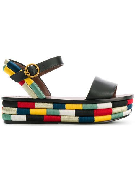 Tory Burch women sandals platform sandals leather black shoes