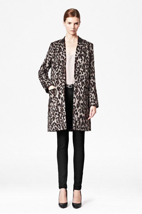 Teddy Leopard Coat - Jackets & Coats - French Connection Usa