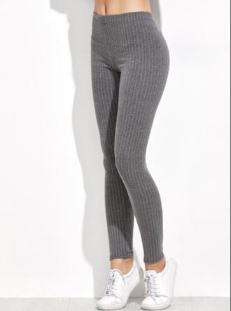 leggings girly grey knit