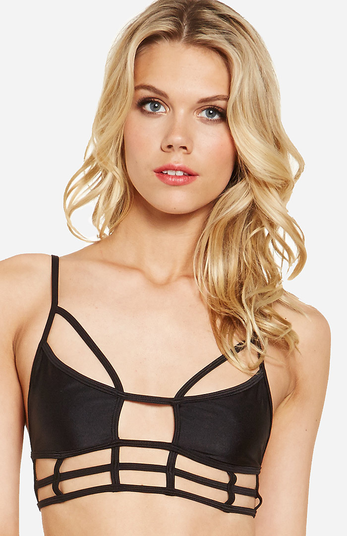 Dailylook: one teaspoon superman bodice bikini top in black s