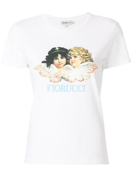 t-shirt shirt t-shirt women white cotton print top