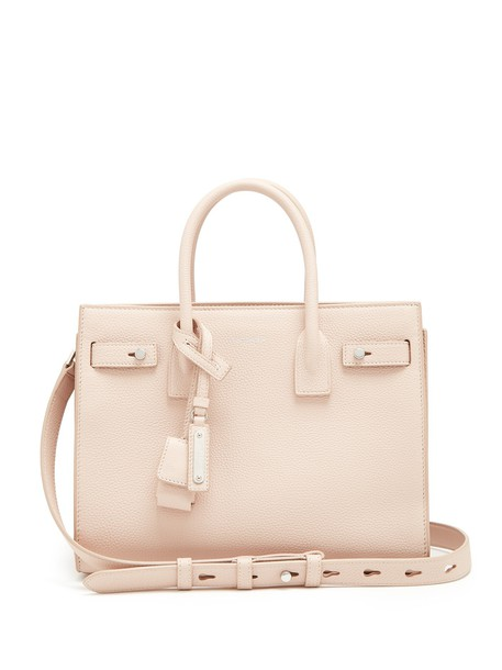 Saint Laurent cross baby bag leather light pink light pink
