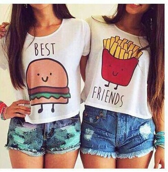 shirt food hamburger bff