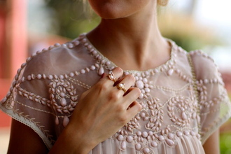 blouse embroidered dusty pink classy
