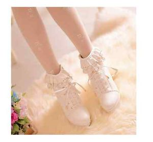 2014 liz lisa inspired autumn sweet lace high heel waterproof boots