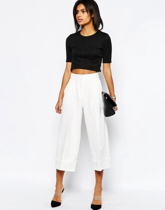pants white culottes white pants culottes asos