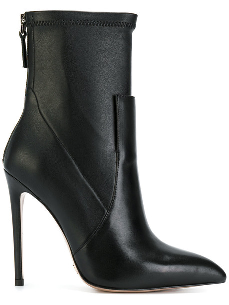 Gianni Renzi women ankle boots leather black shoes