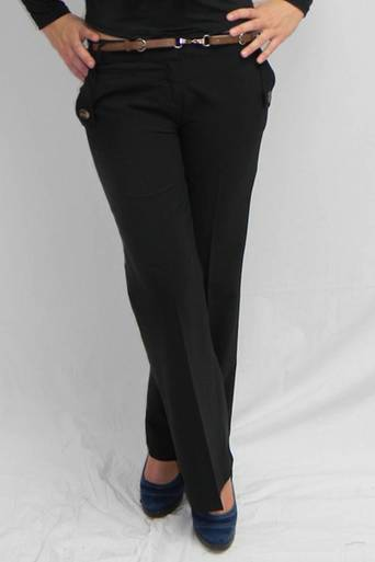 Hada Trouser With Belt - Pop Couture