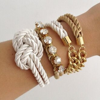 jewels gold bracelets silk rope bracelet