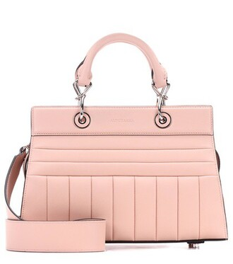 quilted leather pink bag