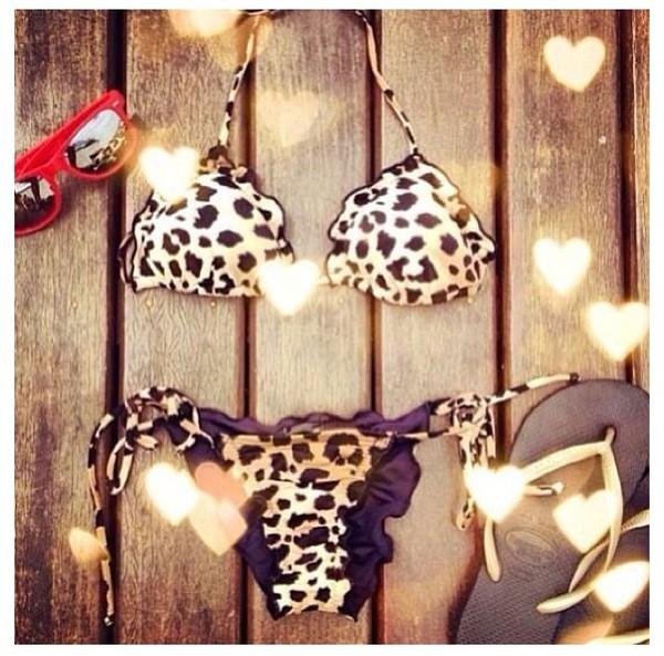 swimwear leopard print bikini