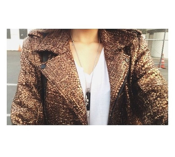jacket brown jacket gold golden jacket