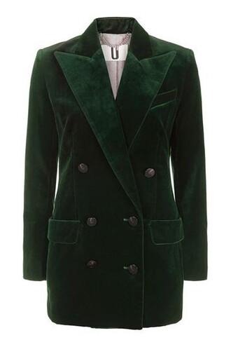 blazer forest jacket