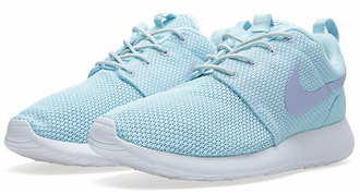 shoes nike roshe run glacier purple shoes light blue cute authentics nike nike running shoes nike sportswear light blue nike roshe runs  with purple tick