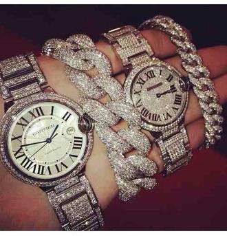 jewels watch bracelets silver watch sparkle jewelry jewelry hand jewelry braclet gold bracelet