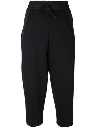 pants track pants cropped women cotton black