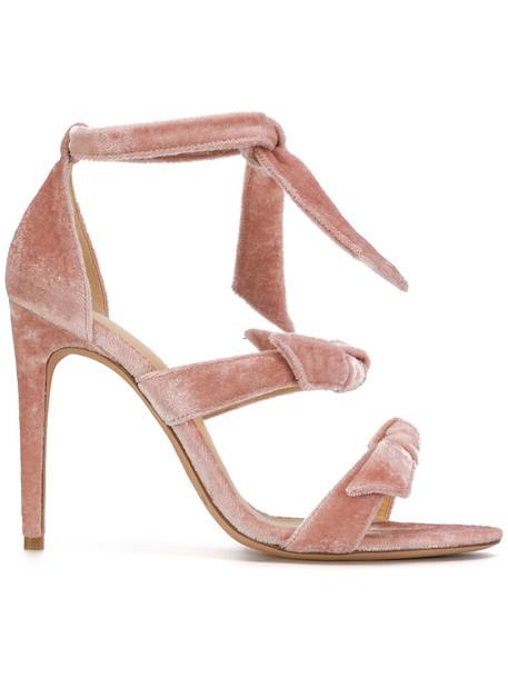 Alexandre Birman bow women sandals leather velvet purple pink shoes