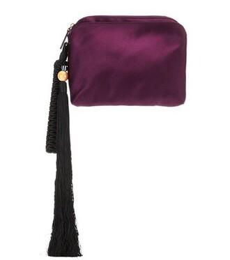clutch silk purple bag