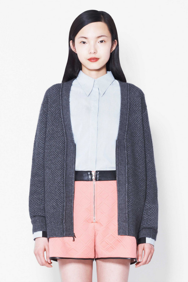 sweater lookbook fashion phillip lim shirt shorts