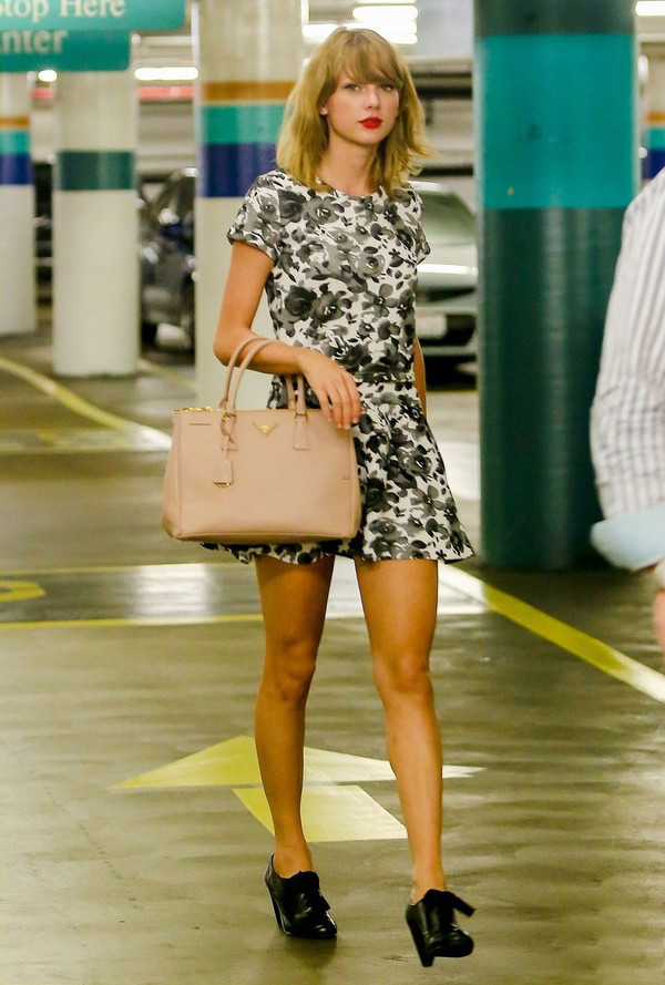 taylor swift bag shoes floral dress