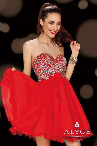 dress prom dress homecoming dress red dress