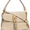Chloé - owen shoulder bag - women - leather - one size, grey, leather