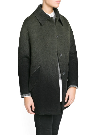MANGO - CLOTHING - Ombré wool-blend oversize coat