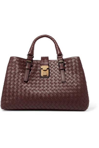 Bottega Veneta leather burgundy bag
