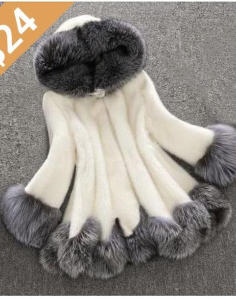 coat grey winter coat fur hooded jacket faux fur coat fur coat
