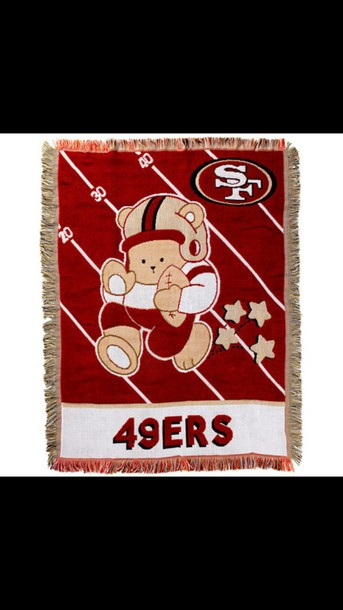 home accessory 49ers blanket