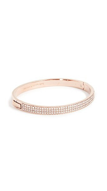 Kate Spade New York rose gold rose clear gold jewels