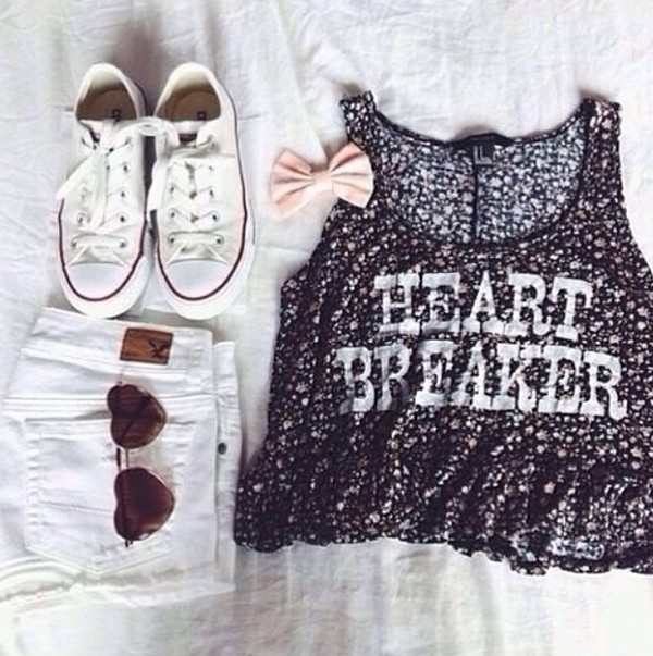 top clothes vintage hippie summer girly cute shorts jewels sunglasses heart sunglasses