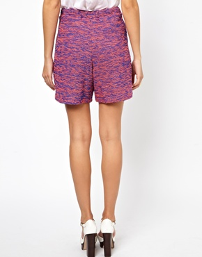 ASOS | ASOS Shorts in Longline Textured Boucle at ASOS