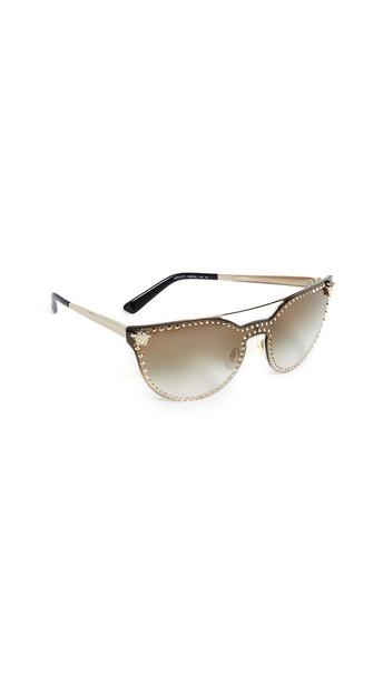 Versace Medusa Aviator Sunglasses in gold