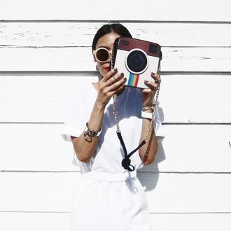visa lom 1finedai blogger chain bag instagram round sunglasses