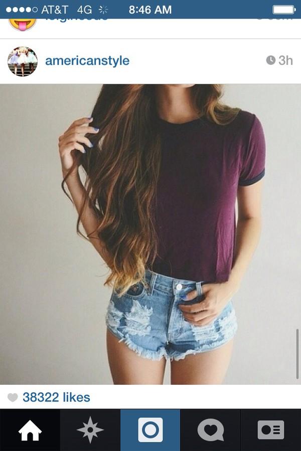shorts t-shirt shirt