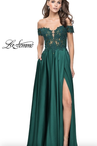dress prom dress prom gown prom 2018 lace dress green teal