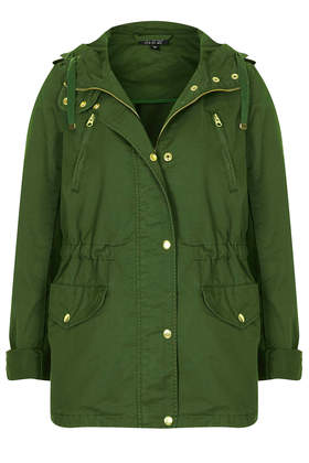 Hooded Short Parka Jacket - Topshop