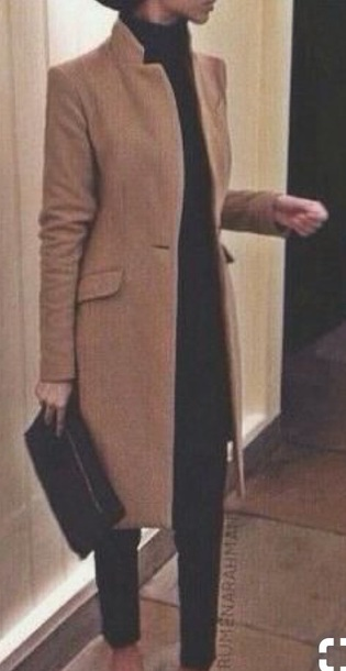 coat tan smart coat tailored coat brown