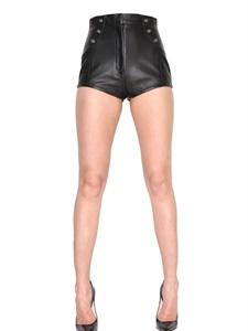 Hchtaillierte shorts aus nappaleder