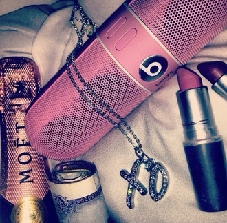 earphones pink beats by dre pro beats pills beats pill xl speaker technology girly homa acc home accessory
