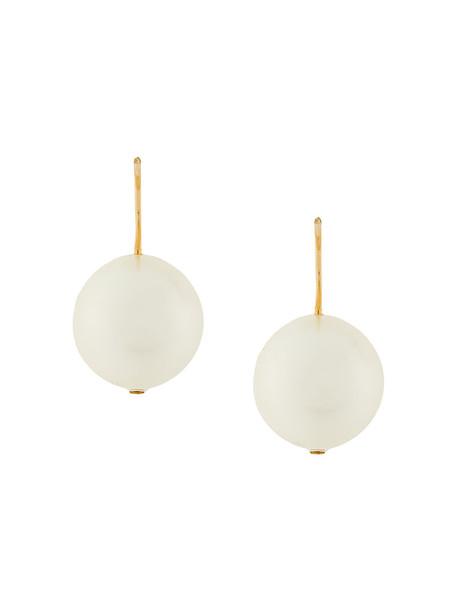 AURELIE BIDERMANN pearl earrings women pearl earrings gold nude jewels