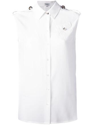 shirt sleeveless shirt sleeveless women white silk top