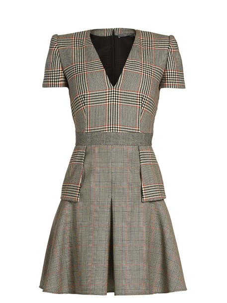 Alexander Mcqueen dress grey
