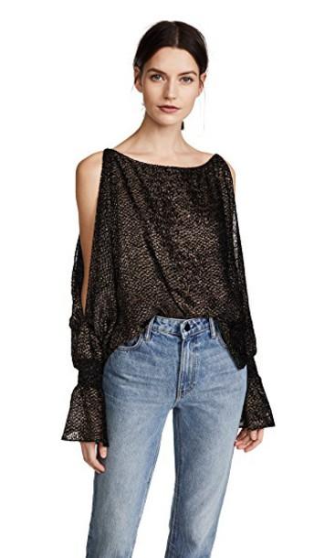 Nili Lotan blouse gold top