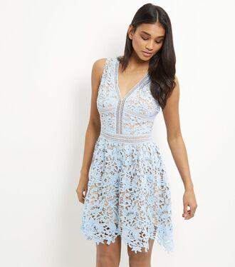 dress pastel dress light blue lace dress blue dress