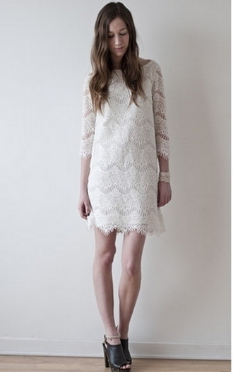 dress robe dentelle lace dress white dress zara clothes white lace robe